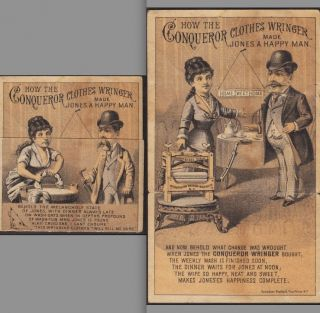 Poughkeepsie Ny 1880 ' S Conqueror Clothes Wringer Metamophic Ny Advertising Card photo