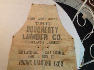 Antique Vintage Primitive Lumber Co.  Apron. photo