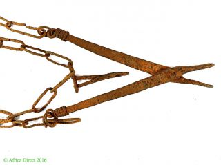 Iron Pliers Tool Chain Nigeria African Art photo