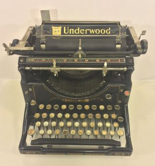 Antique Underwood Standard No.  5 Typewriter No Case photo