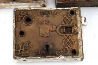 1863 Branford Lock Brass Rim Lock photo