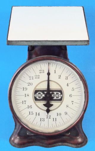 Antique Hs&b Co.  Triner Family Scale Dated 1906 Great Paint photo
