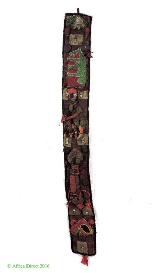 Yoruba Beaded Panel Diviner ' S Beadwork Nigeria African Art Was $225.  00 photo