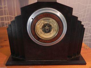 Period Art Deco Bakelite Barometer Stepped High Rise Design photo