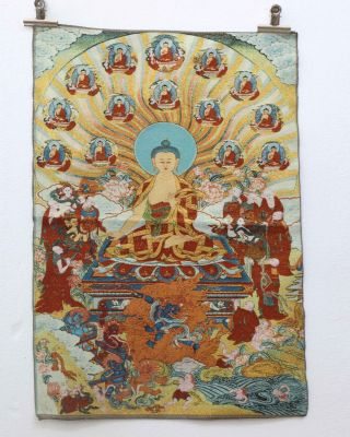 Tibet Collectable Silk Hand Painted Guanyin Painting Thangka Gd6626 photo
