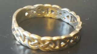Celtic Solid Gold Ring Found Detecting 2.  68 Grams photo