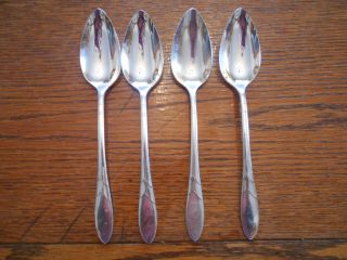 4 Community 1932 Lady Hamilton Pattern Place Or Oval Soup Spoons Oneida photo