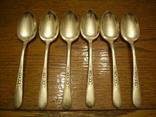 6 Rogers 1941 Priscilla Or Lady Ann Pattern Table Serving Spoons Is Silverplate photo