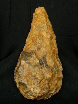 Better Acheulean Civilization - Lower Paleolithic Quartzite/flint Hand Axe - Sahara photo