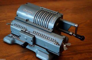 Mechanical Calculator Felix - M Arithmometer Vintage Ussr Adding Machine 1970 photo