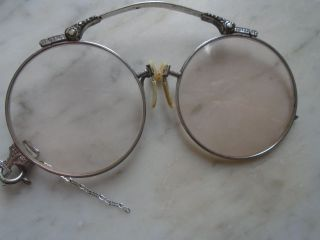 Antique Pince Nez Glasses 12kg Gold Oxford photo