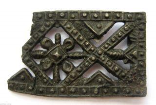 Circa.  1300 - 1400 A.  D Medieval Period Pewter Open Work Pilgrim Badge photo