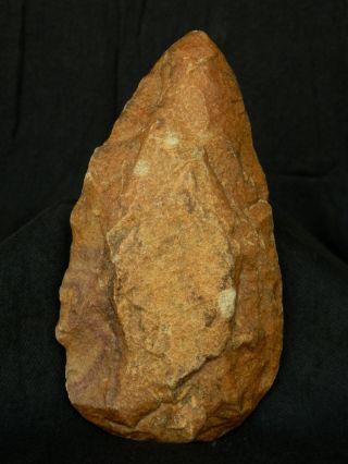 Sensational Acheulean Civilization - Quartzite Hand Axe - 16.  5 Cm Long - Sahara photo