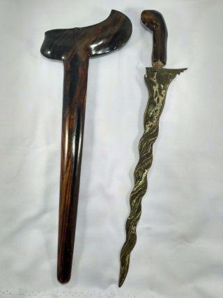 Javanese Keris / Kris Indonesia Sword Dagger K.  001 photo