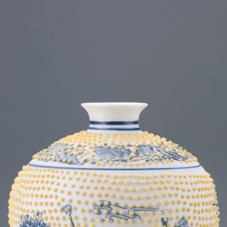 Chinese Blue And White Porcelain Hand - Painted Eight Immortals Vase photo