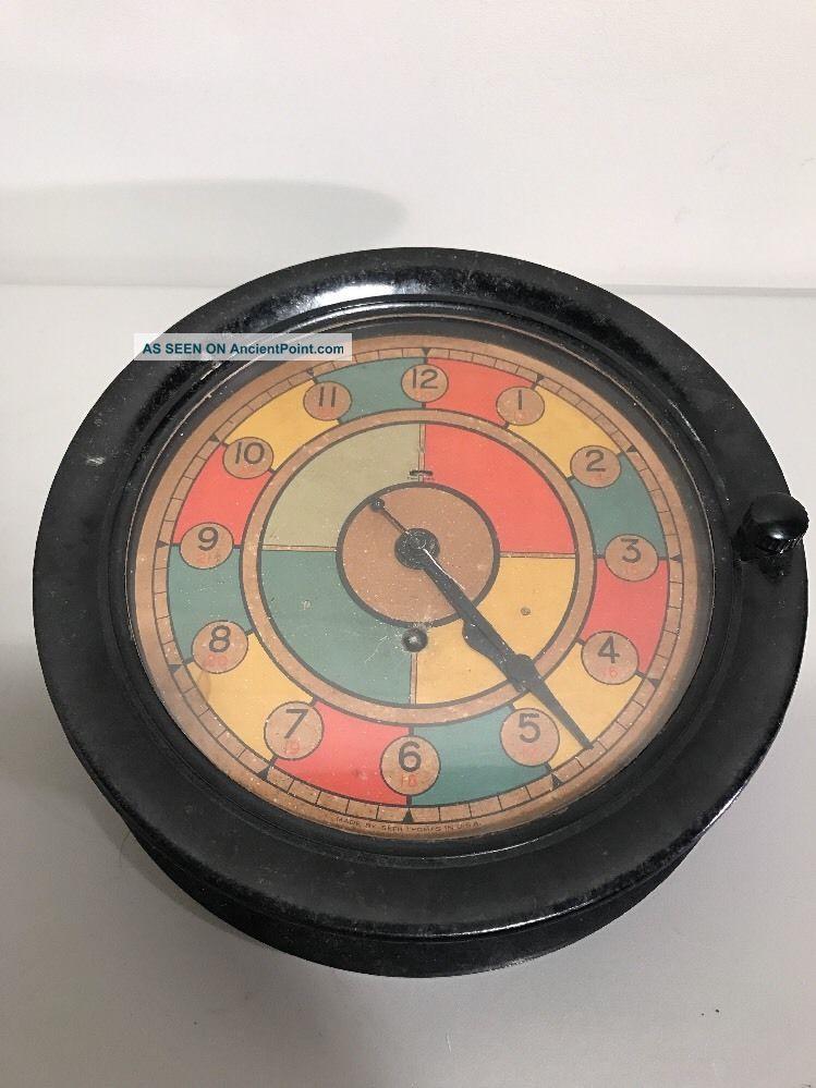 Rare Wwii Seth Thomas U.  S.  Army Air Corps / Raf Sector Clock Clocks photo