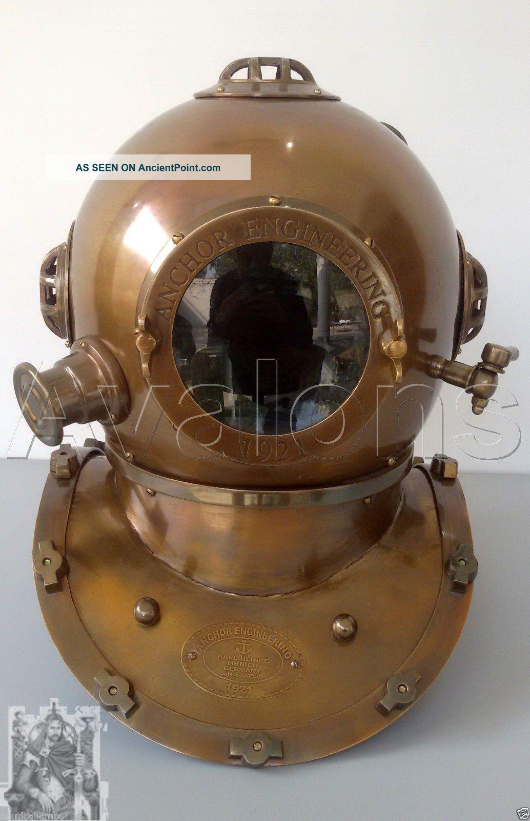 Anchor Dive Helmet Mark V Us Navy Scuba Diving Divers Helmet Deep Sea Full Size Diving Helmets photo