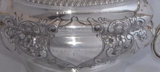 Antique James Dixon & Sons Chased Silver Plate Tea Pot - Britannia Metal photo