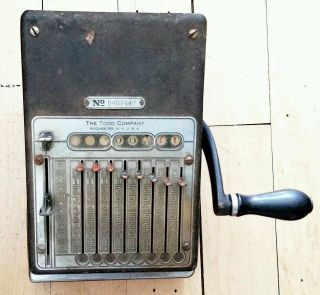 ☆rare Todd Company 1931^antique/vintage Check Writer Century Protectograph 1700 photo