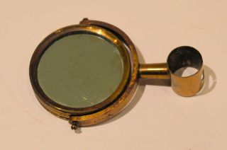 Brass Microscope Plano - Concave Double Sided Mirror photo