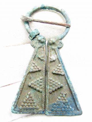 Viking Bronze Penannular Omega Brooch - Ancient Historic Artifact - C762 photo