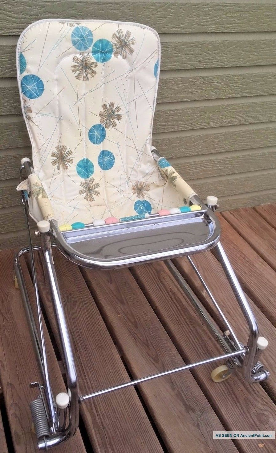 1940s - 50s Taylor Tot Baby Bouncer & Walker Eating Tray Teething Beads Baby Carriages & Buggies photo