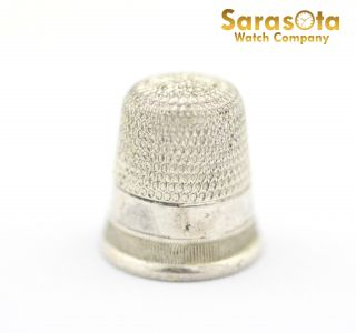 Sterling Silver Size 8 Thimble photo