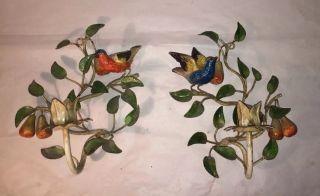 Italian Painted Iron Candle Sconces photo