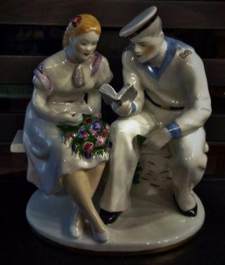 1954 Lfz Russian Soviet Ussr Propaganda Porcelain Figurine