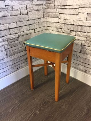 Vintage Stool With Storage photo