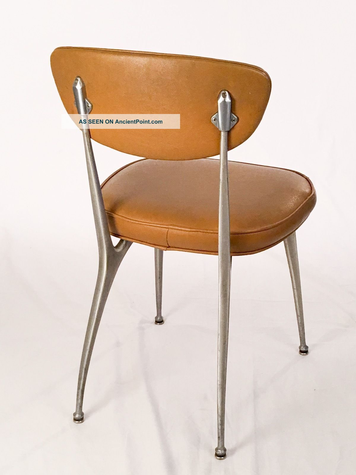 Authentic Rare Shelby Williams Gazelle Chair Machine Age Aluminum Mid Century Post-1950 photo