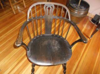 Antique Karpen Walnut Bent Back Windsor Chair 1800 ' S Patina photo