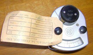 Vintage W G Pye & Co Cambridge Scientific Instrument / Meter / Galvanometer photo
