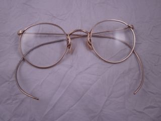 Antique Vintage Ao Gold Filled Eyeglasses 1/10 12k Gf Spectacles Mother Of Pearl photo