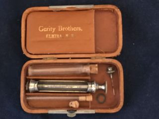 Antique Medical 1800's Gerity Brothers Syringe Travel Case photo