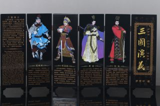 "Good Chinese Painting ""romance Of The Three Kingdoms""screen Scroll Pf02 photo"
