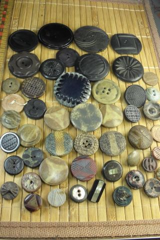 47 Lovely Victorian Composition Buttons - Estate photo