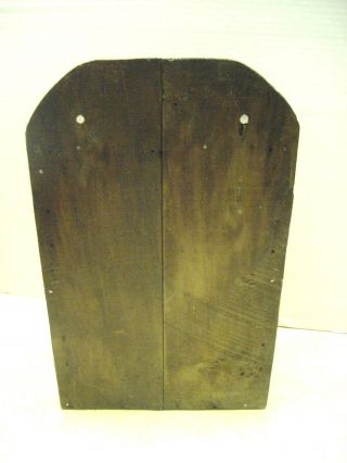 Antique Primitive Oak Wood Spice Cabinet Wall Mount Hanging 8 Drawers photo