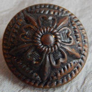 Vintage 2 Piece Celluliod Button Flower 1005 - A photo