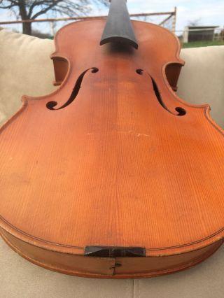Antique,  Estate,  Old,  Jtl Jerome Thibouville Lamy France Violin & Coffin Case photo