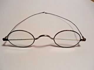 Antique Civil War Era Split Vision Bi - Forcal Eyeglasses Clear Top Lens,  Readers photo