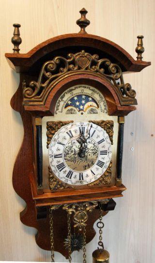 Hermle Sallander Dutch Zaanse Wall Clock Moonphase Cuppercarved Dial Sa 18 photo