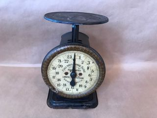 Antique Columbia Family Scale 24 Lbs Landers,  Frary,  Clark Britain,  Ct photo