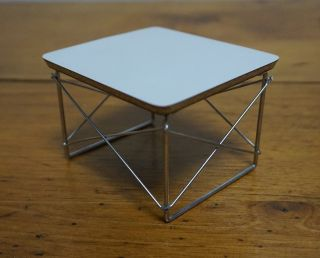 Herman Miller Charles Eames Wire Base Ltr Formica Top Low Side End Table - Model photo