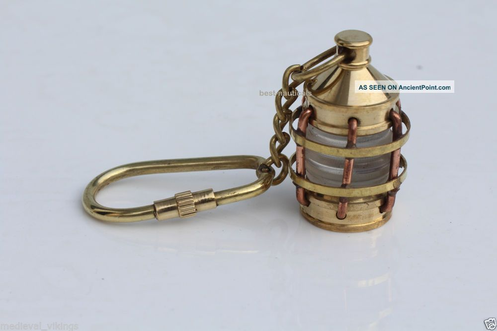 Solid Brass Vintage Style Nautical Key Chain Key Ring Lamp Copper Bras Finish Lamps & Lighting photo