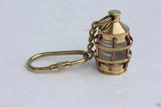 Solid Brass Vintage Style Nautical Key Chain Key Ring Lamp Copper Bras Finish photo