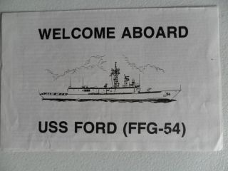 Naval/united States Navy Uss Ford (ffg - 54) Welcome Aboard photo
