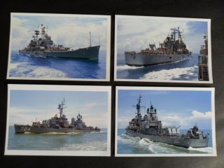 4 Naval Photos Taken From Hmas Hobart Off Vietnam 1968 Of Uss Boston & Borie photo