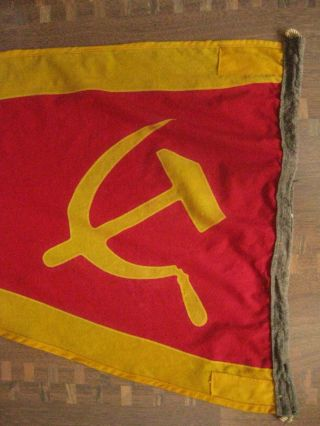 Vintage Rare 1980s.  Russian (ussr) Navy Wool Shp Flag 57