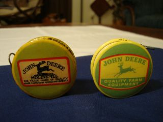 (2) Vintage John Deere Tractor Advertising Tape Measures Rare Antique Moline Ill photo